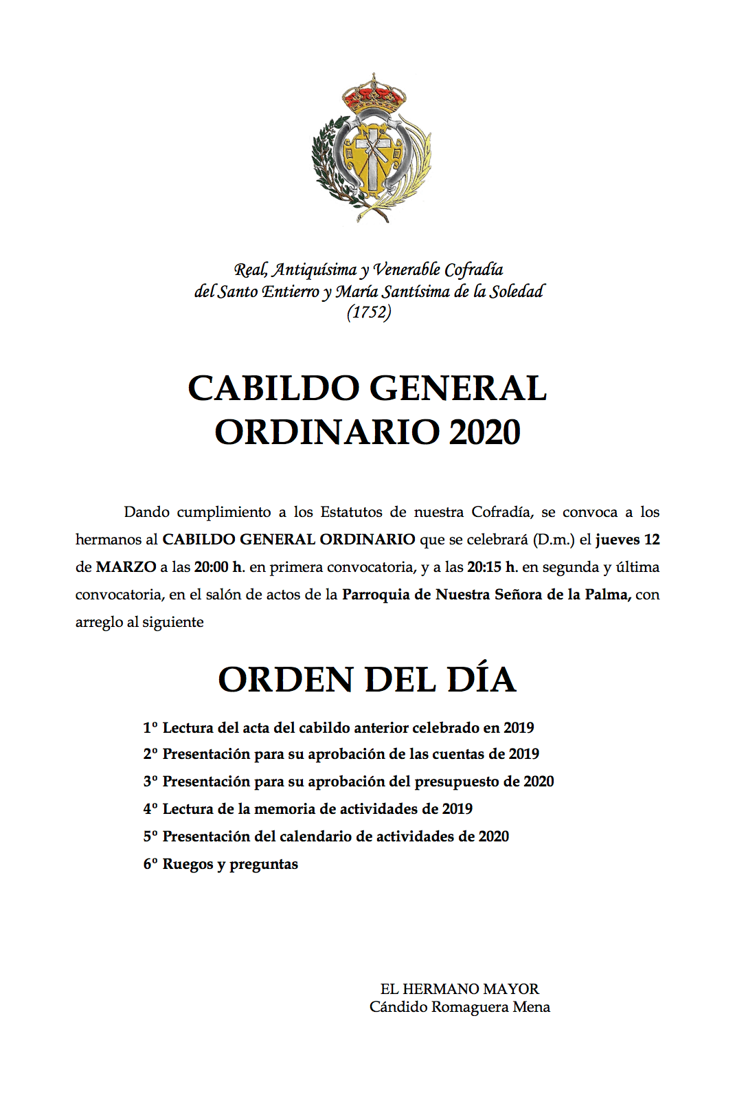 Cabildo General Ordinario 2020