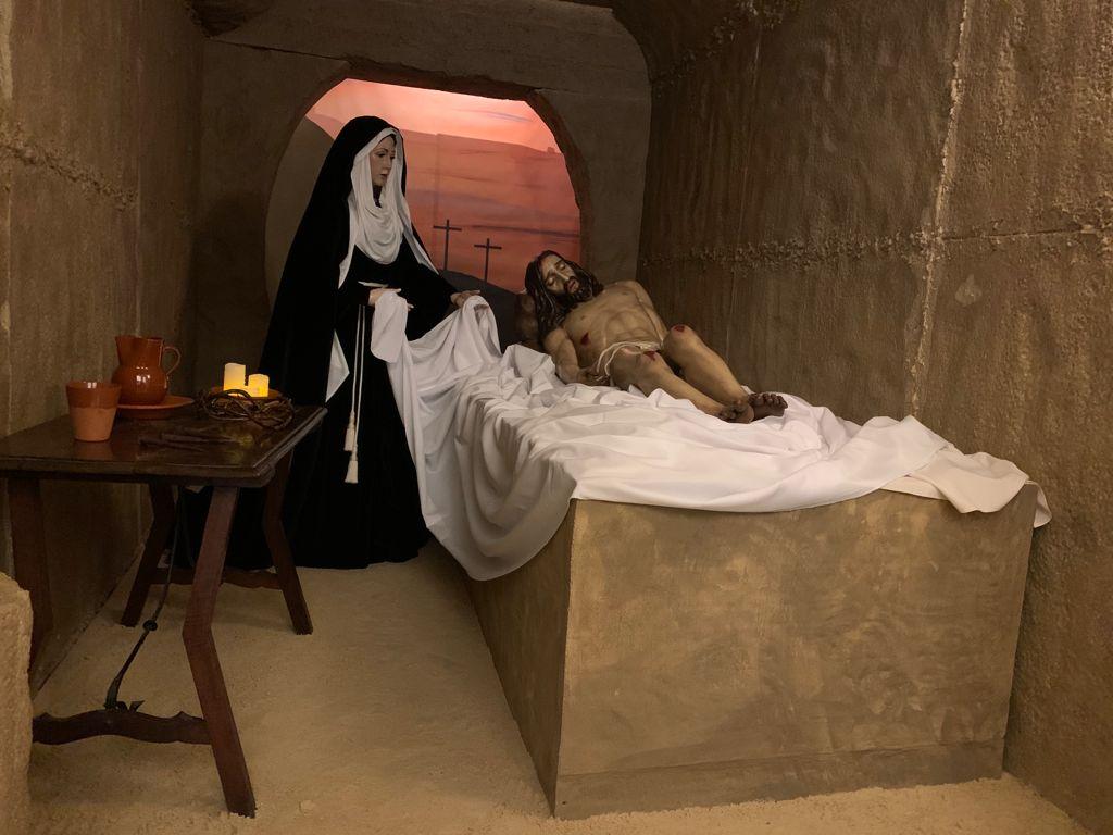 El sepulcro de Cristo Yacente recreado en La Palma